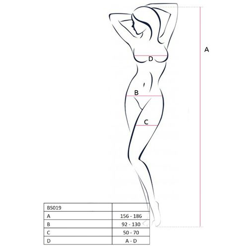 PASSION WOMAN BS019 BODYSTOCKING NEGRO TALLA UNICA