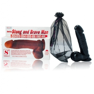 DILDO NATURAL BRAVE MAN 19CM